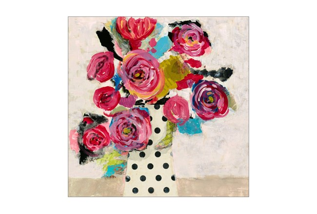 Picture-Polka Dot Vase 30X30 - 360