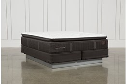 Baywood Luxury Cushion Firm Euro Pillow Top Cal King Mattress W/Foundation