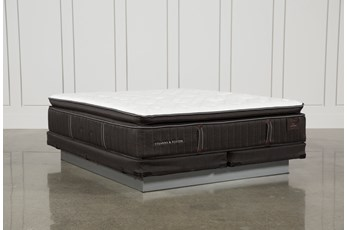 Baywood Lux Cushion Firm Euro Pillow Top Cal King Mattress W/Low Profile Foundation