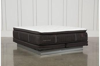Trailwood Lux Plush Euro Pillow Top Cal King Mattress W/Low Profile Foundation