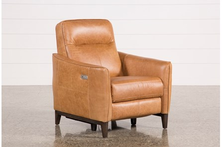 Torben Brown Leather Power Recliner W/Usb