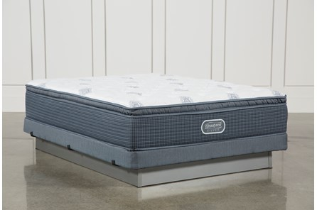 Palm Springs Plush Pillow Top Queen Mattress W/Low Profile Foundation