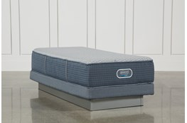Ventura Plush Twin Xl Mattress W/Low Profile Foundation