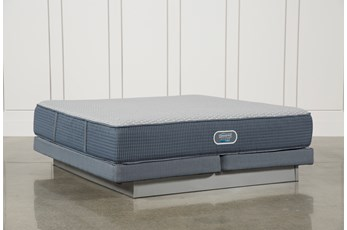 Ventura Plush Cal King Mattress W/Low Profile Foundation