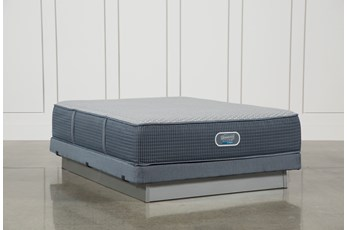 Vivid Shores Plush Queen Mattress W/Low Profile Foundation