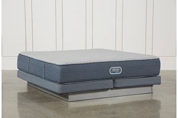 Vivid Shores Plush Eastern King Mattress W/Low Profile Foundation