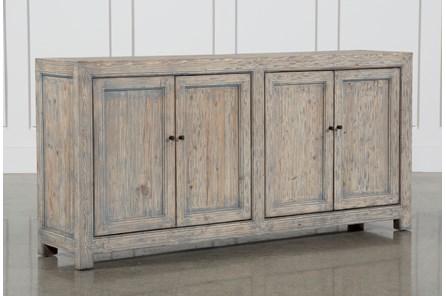 Antique Blue 4-Door Buffet