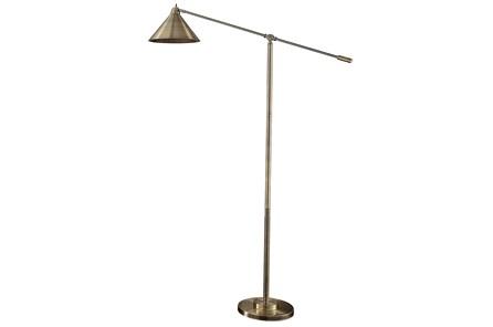 Floor Lamp-Brass Metal Shade