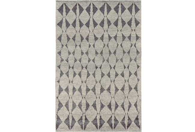 114X162 Rug-Wool And Bamboo Hand Knotted Mushroom - 360