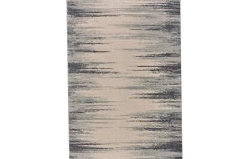 60X96 Rug-Spilt Lines Ivory/Charcoal