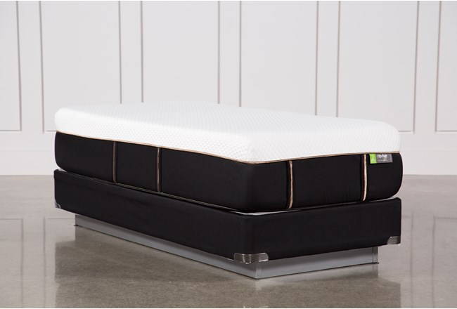 Copper Hybrid Medium Twin Extra Long Mattress W/Foundation - 360