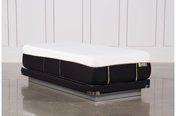 Copper Hybrid Medium Twin Xl Mattress W/Low Profile Foundation