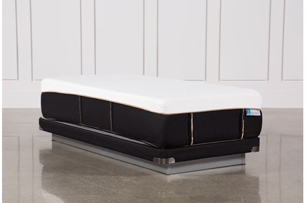 Copper Hybrid Plush Twin Xl Mattress W/Low Profile Foundation