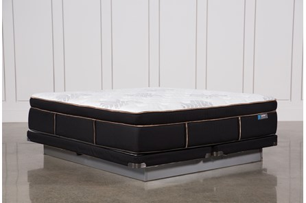 Copper Springs Plush Eastern King Mattress W/Low Profile Foundation