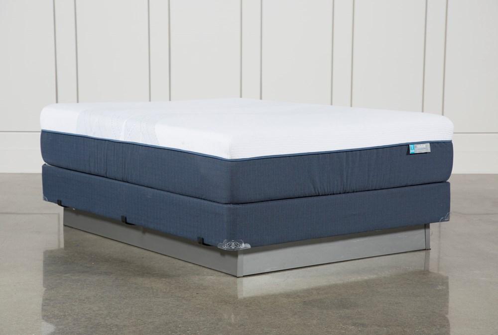 Blue Hybrid Firm Queen Mattress W/Foundation