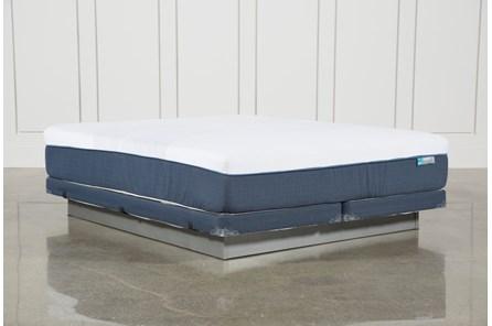 Blue Hybrid Firm Cal King Mattress W/Low Profile Foundation