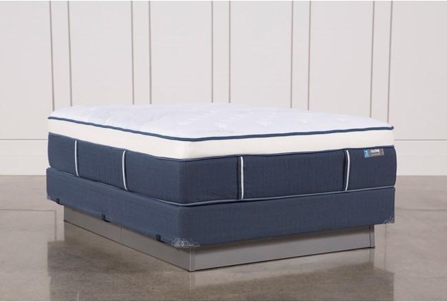 Blue Springs Plush Queen Mattress W/Foundation - 360