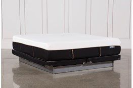 Copper Hybrid Med Eastern King Mattress W/Low Profile Foundation