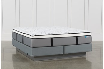 Grey Springs Plush California King Mattress W/Foundation
