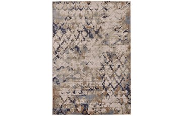 60X96 Rug-Distressed Geometric Camel