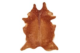 48X72 Rug-Oscar Cowhide Medium Brown Small