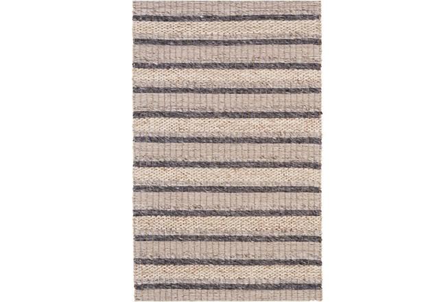 60X96 Rug-Natural Textured Wool Stripe - 360
