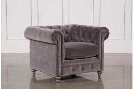 Mansfield Graphite Velvet Chair