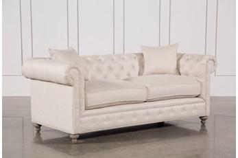 Mansfield 86 Inch Beige Linen Sofa