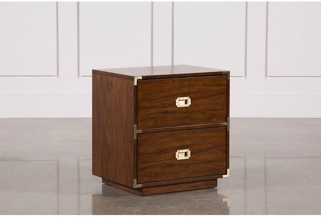 Adams Walnut 2-Drawer Nightstand - 360