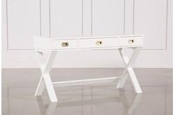 """Adams White 52"""" Desk"""