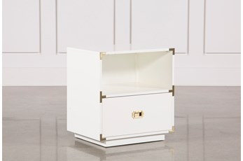 Adams White 1-Drawer Nightstand