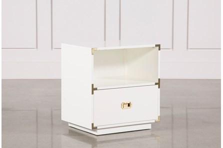 Adams White 1-Drawer Nightstand