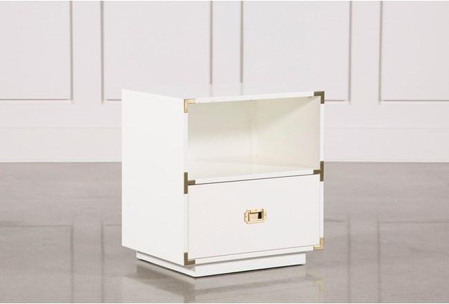 Adams White 1-Drawer Nightstand - 360