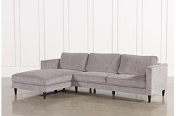 "Cosmos Grey 2 Piece 112"" Sectional With Left Arm Facing Chaise"