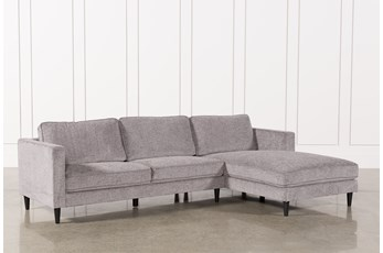 Cosmos Grey 2 Piece Sectional W/Raf Chaise