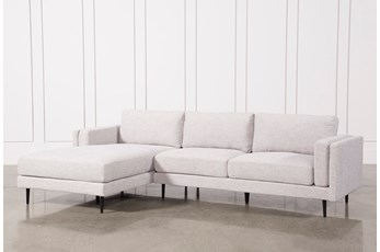 Aquarius Light Grey 2 Piece Sectional W/Laf Chaise