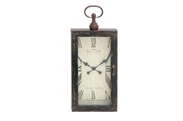 28 Inch Rustic Wood Metal Wall Clock
