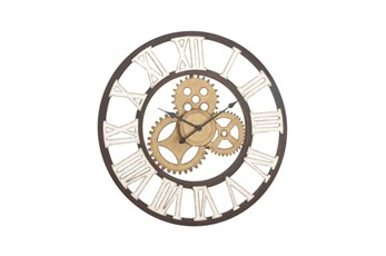 30 Inch Mixed Metal Wall Clock