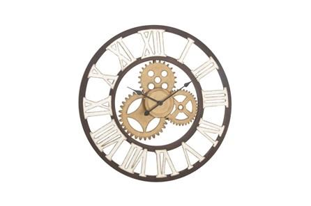 30 Inch Mixed Metal Wall Clock