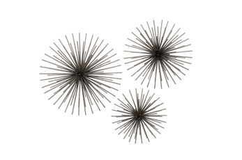 3 Piece Set Starburst Wall Decor