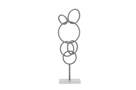 21 Inch Metal Sculpture On Stand