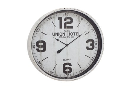 35 Inch Union Hotel Wall Clock