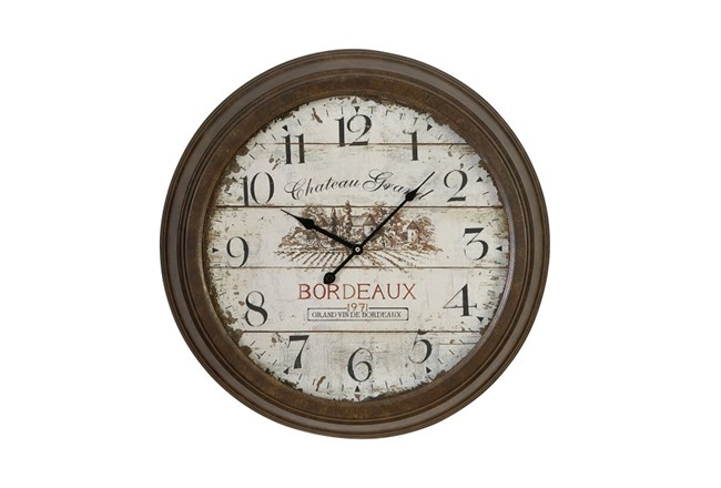 23 Inch Chateau Grand Wall Clock - 360