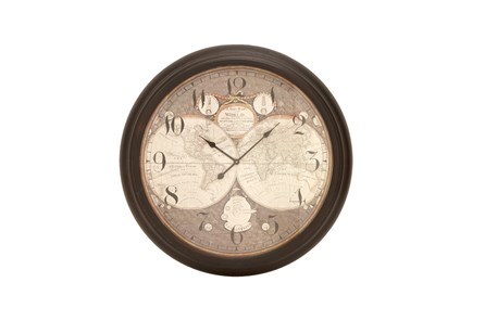 37 Inch Atlas Wall Clock