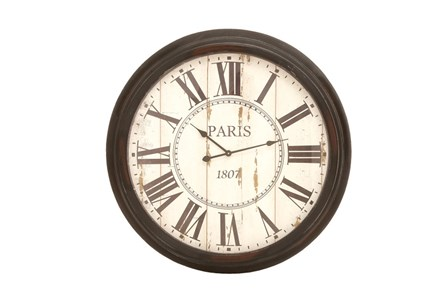 37 Inch Paris Metal Wall Clock