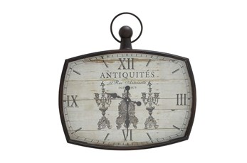 26 Inch Mixed Media Wall Clock