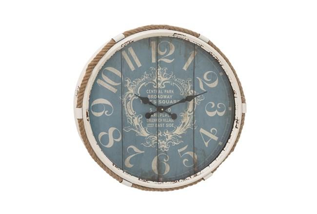 25 Inch Metal Rope Glass Wall Clock - 360