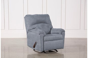 Kellen Denim Rocker Recliner