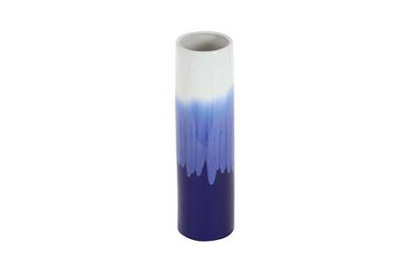 17 Inch Blue Watercolor Vase