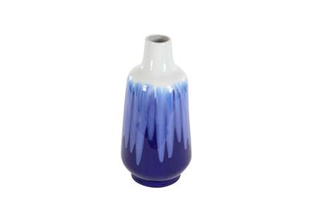 20 Inch Blue Watercolor Vase